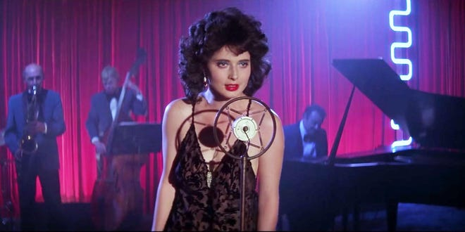 """Isabella Rossellini plays a troubled lounge singer in trouble in David Lynch's Wilmington-shot 1986 film, """"Blue Velvet."""" This scene was shot in the original Mad Monk."""