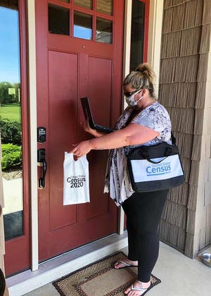 You can identify Census Bureau workers coming to your house by checking to  make sure that they have a valid ID badge, with their photograph, a U.S. Department of Commerce watermark and an expiration date.
