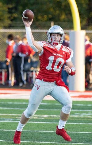 Sandy Valley quarterback Cameron Blair set Stark County records for career passing yards and career passing touchdowns during his high school career.