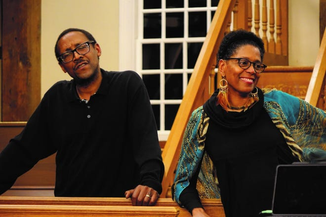 """""""Coming Black to Cape Cod – Black History of Cape Cod (Underground Railroad to Present)"""" will be a live and virtual talk given for Juneteenth on Saturday by Robin Joyce Miller, right, and James Walter Miller at Cotuit Center for Arts."""