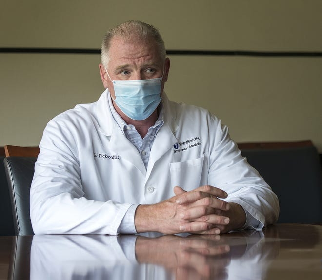 UMass Memorial Health President and CEO Dr. Eric W. Dickson in a file photo.