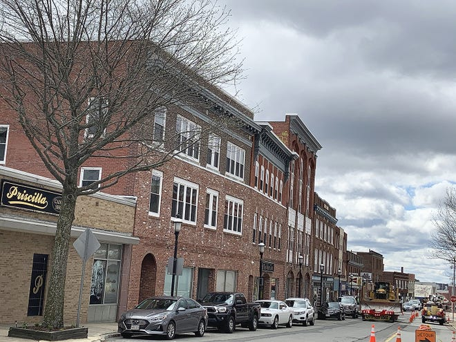 A view of Main Street businesses in downtown Gardner.