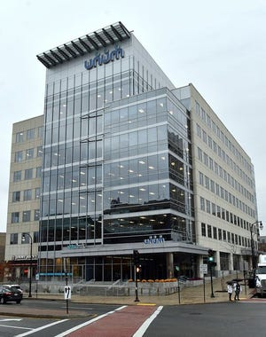 The Unum building on Mercantile Street in downtown Worcester will be rebranded One Mercantile.