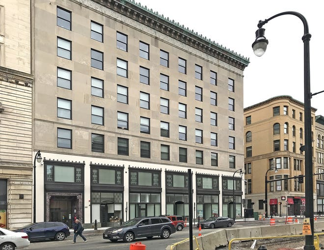 The upper floors of the Central Building at 332 Main St., Worcester, were converted to apartments before the pandemic put downward pressure on demand for office space.