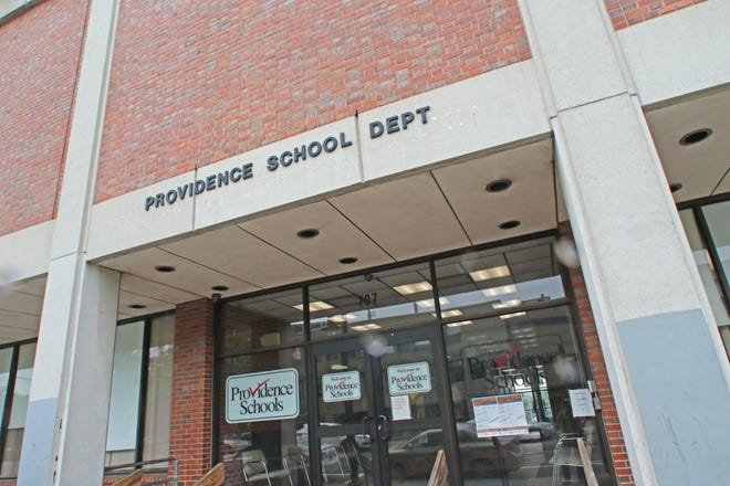 Exterior of the Providence School Department administration building at 797 Westminster St.
