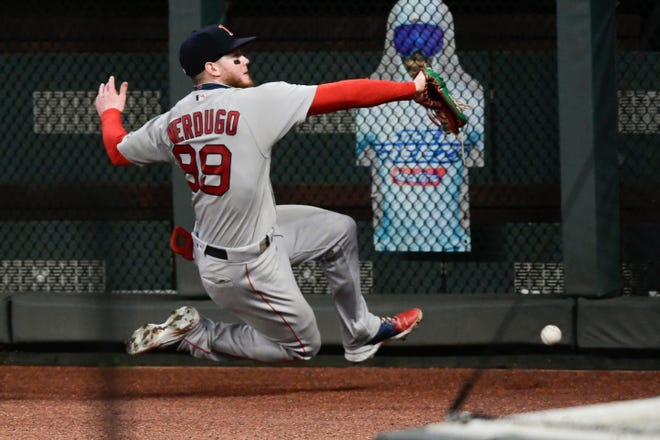 Boston's Alex Verdugo might be the answer in center field this season if free-agent outfielder Jackie Bradley Jr. is not re-signed by the Red Sox.