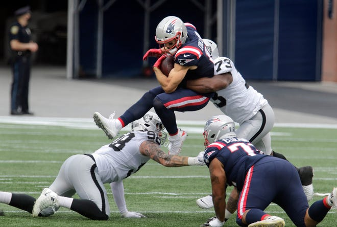 Julian Edelman's receiving numbers and snap counts are down this season. There's a multitude of reasons why it's happening and one big reason why the New England Patriots veteran wide receiver isn't concerned.