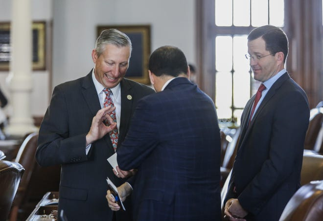 State Rep. Drew Springer, R-Muenster, left, won a special election Saturday in a North Texas state Senate district.