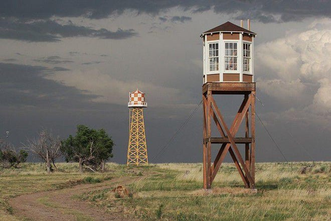 The guard tower still stands at the site of Camp Amache, where U.S. citizens of Japanese descent were housed during World War II.