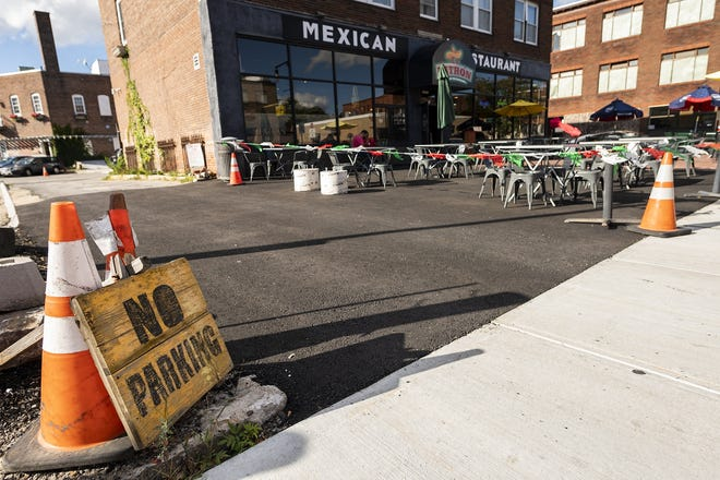 Parking in the Canal District seems to be a challenge on average afternoons, as seen Wednesday. Many businesses have a small number of parking spots for their customers only.
