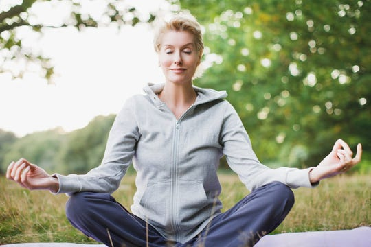 Meditation is a form of self-care that can help you relax and relieve anxiety on Election Day.