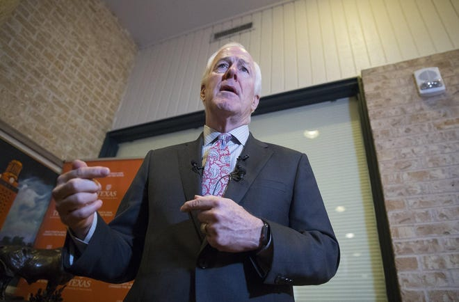 Sen. John Cornyn has said he doesn't pay attention to President Donald Trump's tweets.