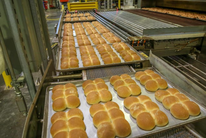 Calise Bakery started 112 years ago in Providence. Today their breads, including these freshly baked rolls, are distributed in New England and the Mid-Atlantic.
