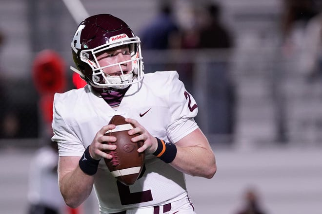 Austin High quarterback Charles Wright accounted for seven touchdowns as he threw for 303 yards and four scores and rushed for 100 yards and three TDs in leading the Maroons to a 56-28 win over San Marcos.