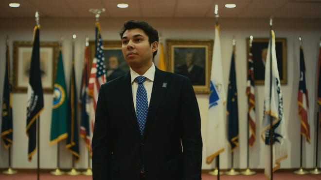 """Former Mayor Jasiel Correia II stands inside Government Center in a shot from the documentary series """"Run This City"""" on Quibi."""