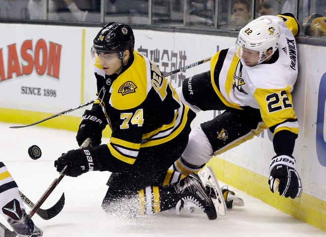 Bruins left wing Jake DeBrusk has signed a two-year deal to remain in Boston.