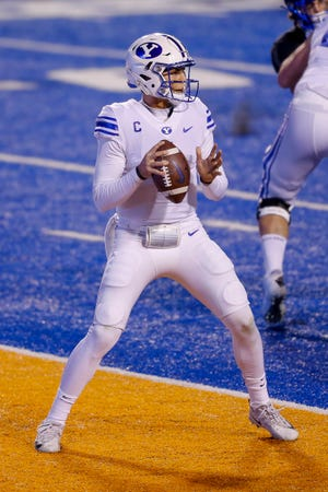 Quarterback Zach Wilson threw for 359 yards and two touchdowns and Tyler Allgeier rushed for 123 yards and a pair of scores as No. 9 BYU routed No. 21 Boise State 51-17 to improve to 8-0.
