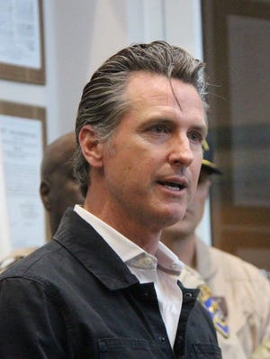 Governor Gavin Newsom during his visit to Ridgecrest July 6, 2019.