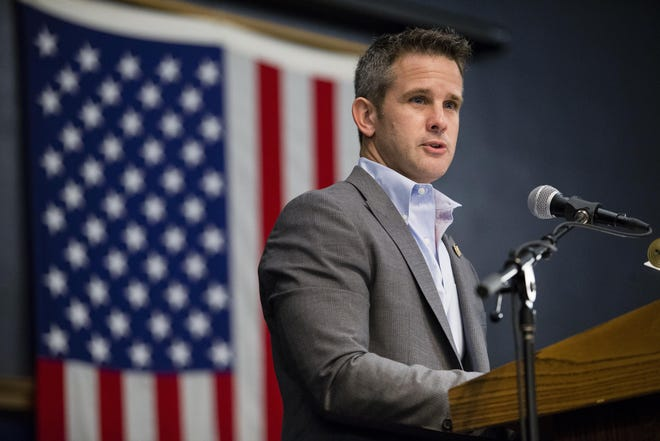 U.S. Rep. Adam Kinzinger, a Republican from Channahon, is seen here at an event in Rockford in 2016.