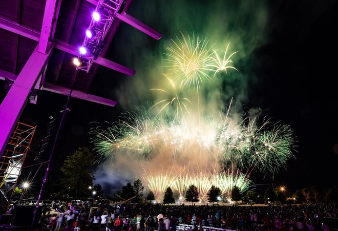 Independence Day celebrations took place at Evans Towne Center Park last year.