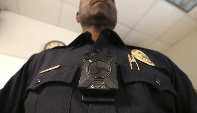 Rockford City Council has agreed to a $3.4 million, five-year contract to acquire 320 Axon body cameras similar to the one displayed here by Phoenix Police Department Sgt. Kevin Johnson last year.