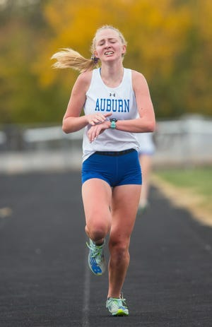 Auburn High School's Emma West is The State Journal-Register's Small School Girls Cross Country Runner of the Year/ [TED SCHURTER/THE STATE JOURNAL-REGISTER]