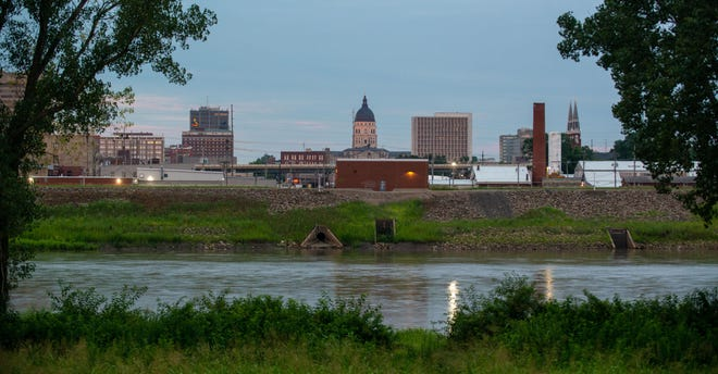 A view of downtown Topeka can be seen from the north side of the Kansas River in this photo taken late last year. The capital city is home to a Plug and Play accelerator program that is moving forward with its second cohort of startups, its first cohort of 2021.