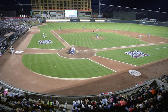 The GreenJackets will offer fans a chance to watch a movie from the field at SRP Park on Sept. 5.