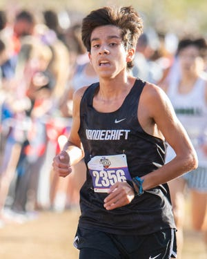 Vandegrift's Kevin Sanchez finished ninth at Tuesday's Class 6A state cross-country race at Old Settler's Park in Round Rock. Sanchez said it was the second-fastest 5-kilometer time of his career.