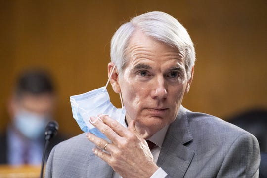 Sen. Rob Portman, pictured during a committee meeting in June, said on Tuesday that he would not object to the 2020 election as some others Republican members of Congress intend to do. [Caroline Brehman/CQ Roll Call/Pool via AP)