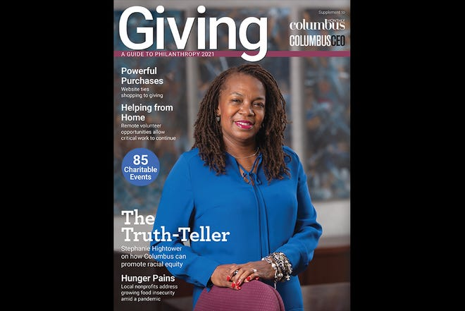 The cover of Giving: A Guide to Philanthropy 2021 features Stephanie Hightower, president of the Columbus Urban League.