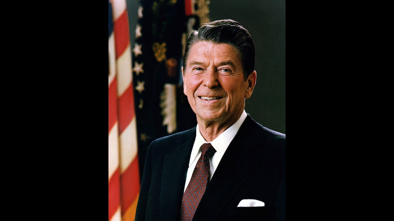 President Ronald Reagan died in 2004, the last year Brood X cicadas emerged.