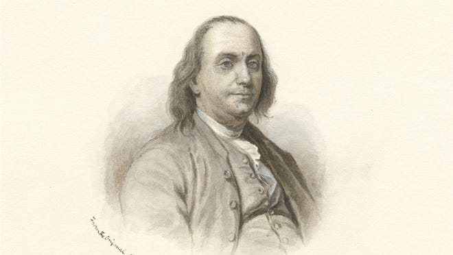 Benjamin Franklin (1706-1790) was one of the founding fathers of the United States.