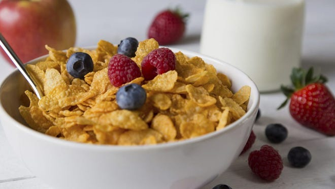 Federal agents seized 44 pounds of cornflake cereal soaked in cocaine Feb. 13 in Cincinnati.