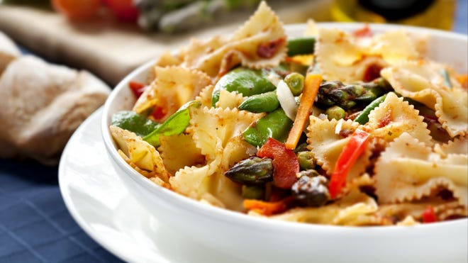 Whole wheat pasta is a great substitute for white pasta. It's full of nutrition, antioxidants and fiber. And it's much more filling.