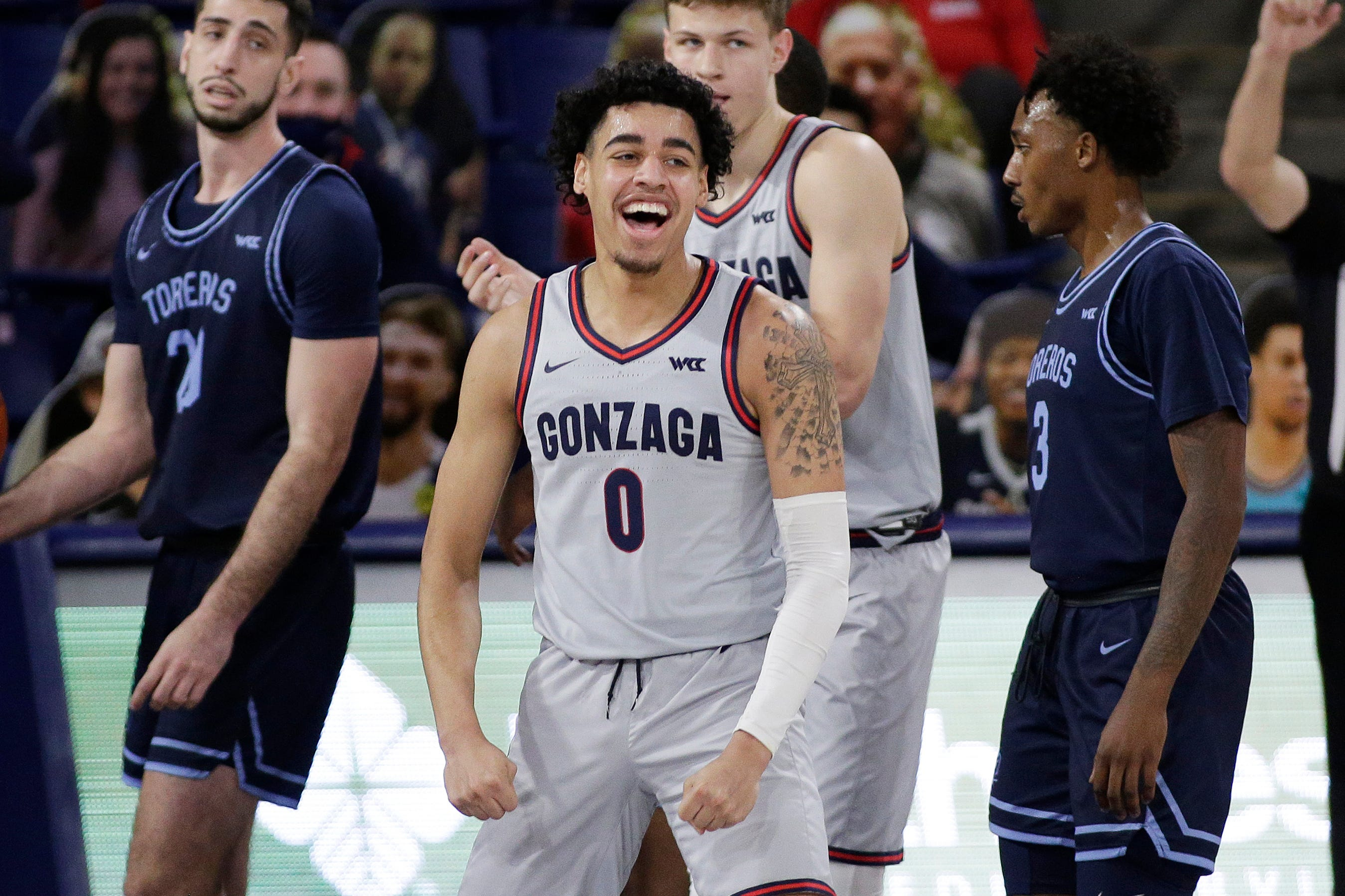 Gonzaga remains at the top of the Ferris Mowers Men's Basketball Coaches Poll