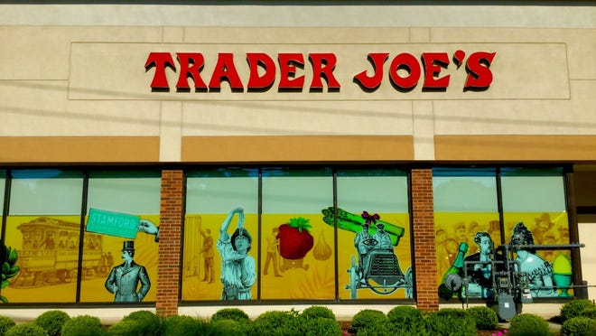 The front of a Trader Joe's store.