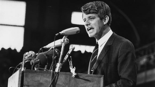 On April 4, 1968, Robert F. Kennedy, campaigning for president, broke the news of Martin Luther King's assassination to a crowd in Indianapolis, Indiana. Kennedy, whose brother was slain by an assassin less than five years before, offered a unique and personal perspective on the death of King.