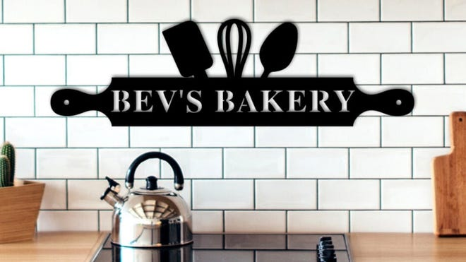 The Home-to-Market Act working its way through the Illinois Capitol would expand where at-home bakers and cottage food producers can sell their wares. Pictured is an idea for a Mother's Day gift - a custom metal kitchen sign.