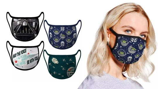 You'll feel like the force is with you while wearing these Star Wars masks.