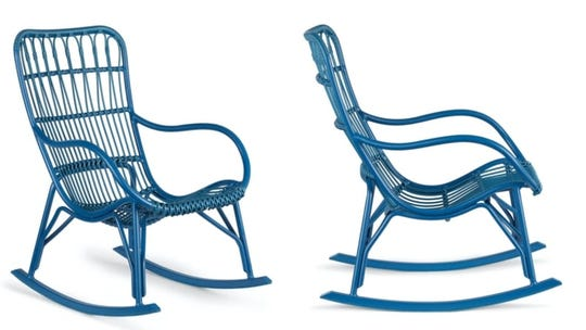 Why buy a neutral rocking chair when you can opt for cobalt blue?