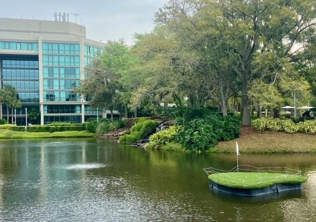 The Sawgrass Marriott in Ponte Vedra, Florida hosts pro golfers and fans.