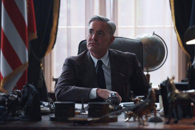 "Kyle MacLachlan as President Franklin Roosevelt in ""Atlantic Crossing."""
