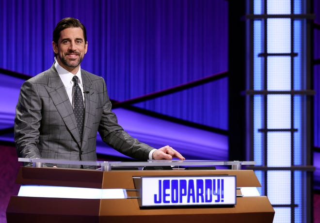 "Green Bay Packers quarterback Aaron Rodgers will finish his turn as ""Jeopardy!"" guest host on April 16."