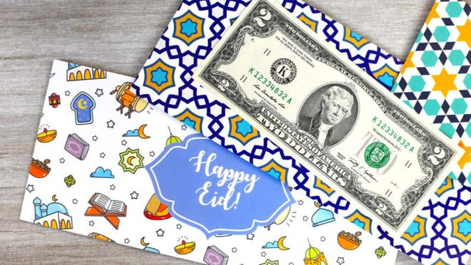 Dress up your Eid money with festive envelopes.