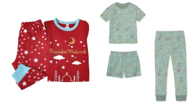 New Ramadan-themed pajamas keeps the kids cozy and festive.