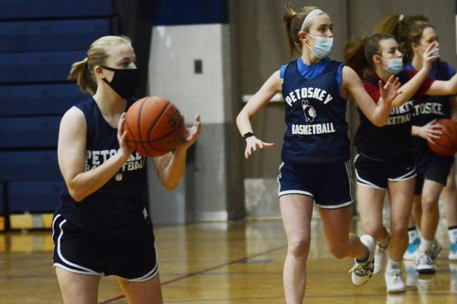 The Petoskey girls' basketball team will have barely any court time of full contact practices before they open play next week, though they'll be happy to be back on the court for competition.