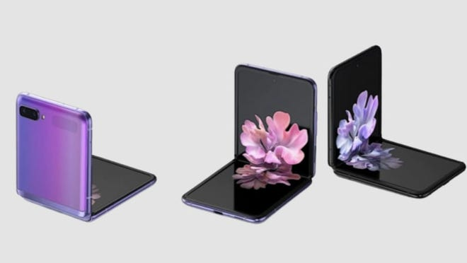Samsung may be bringing out successors to its Galaxy Flip and Fold devices. The Galaxy Z Flip 5G is shown here.