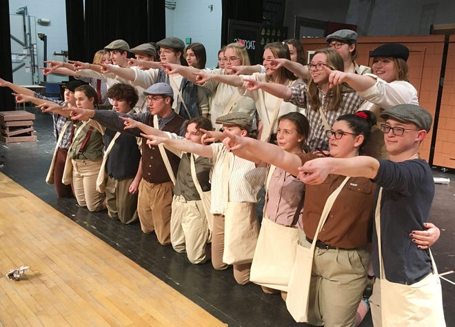 """Here are members of the cast of """"Newsies,"""" which the Gaylord High School Drama Club is putting on March 6, 7 and 8."""