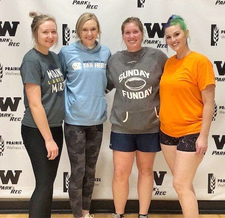 Notorious DIG won the recreational division championship recently in the Watertown Park and Rec's Adult Women's Volleyball League. Team members include, from left, Michaela Kranz, Ali Kranz, Kylie Knippling and Miranda Russell. Not pictured are Becca Jund and Cheryl Reiter.